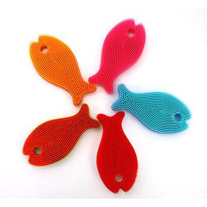 실리콘 수세미-물고기140x75x25mmmade in korea
